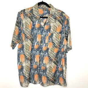 Great Northwest Multi-Color Abstract Button Up Top